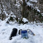 Beers and snow, excellent for barbecues