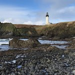 View of Yaquina Head Ligth House from Cobble Beach