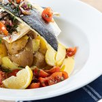 Our delicious grilled seabass
