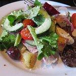 Half of a Panzanella Salad