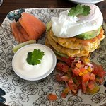 Corn Fritters with Salsa and Sour Cream & Salmon $22.00