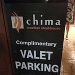 Complimentary valet parking