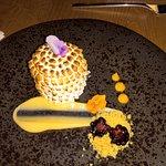 LIMONCELLO BAKED ALASKA (V) Mango, Blackberry, Orange Shortbread Crumble