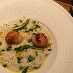 Risotto with crab and scallops. Perfect delicate taste!