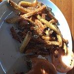 Alberta burger and fries