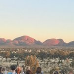Close up shot, Kata Tjuta just after sunrise