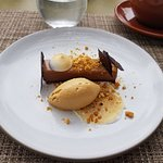 Decadent peanut butter gelato & chocolate mousse - wow!