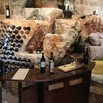 The wine cellar is amazing - such an original design and use of an awkward space