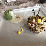 Mousse e insalata di polipo