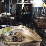 Oyster with Guinness extra stout a great classic combination.