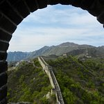 Great Wall at Mutianyu from a hilltop tower