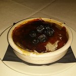 Blueberry creme brulee
