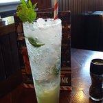 Minty Apple Mocktail drink at TGI Fridays Reading
