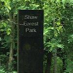 Shaw Forest entrance via the car park