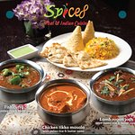 Spice 8 Logo with signature dishes