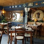 Great nautical themed restaurant! We've been passing by this little restaurant for years. Our mi