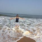 enjoying sea water bath