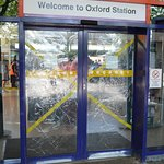 A Common Repeated Sight at Oxford Stations entrance after Alcholic Violence.