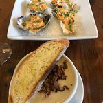Rock and Rye: broiled oysters and oyster stew