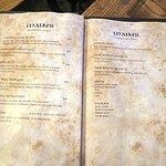 Well priced menu at The Bog Irish Bar