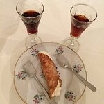 goat ricotta cannolo with two amaros