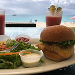 Incredible Fish Sandwich with the Perfect View!