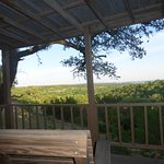 The Woods Cabin Deck view