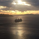 Ferry Boats at sunset view from the Wheel