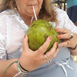 água de coco pra refrescar