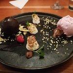 Dessert: Dark Chocolate Sphere