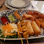 Elephant Platter (shrimp warm all else cod very doughty egg rolls
