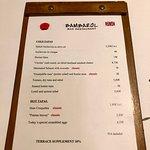 Bambarol menu