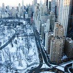 Day View of Snow-Covered Central Park from My Room