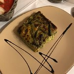 Pesto Lasagna. Yes that is chocolate for presentation.