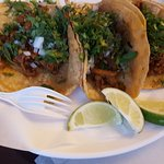 Tacos Al pastor, chips & salsas, combo plate of taco and enchilada. Great place!