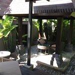 Villa backyard