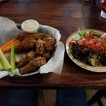 Wings and side salad