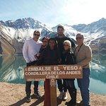 Sheila e Edgar conosco em Cajon del Maipo