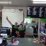 Georgetown Roadhouse - Menu board, front counter and friendly staff