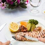 Greek grilled kalamari