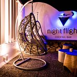 Night Flight Cocktail Bar - Restaurant, the sign