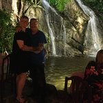 Where else do you get a waterfall coming into a restaurant