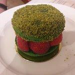 Macaron fraises-pistache