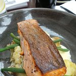 Deliciously cooked salmon