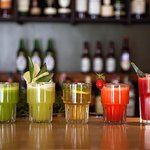 Freshly squeezed juices and lemonades