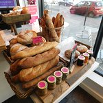 Freshly baked bread also on sale