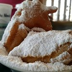 Powdered sugar, with a side of beignets.