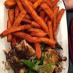 Jerk chicken & sweet potato fries