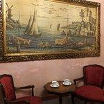 Seating for tea/espresso in junior suite.