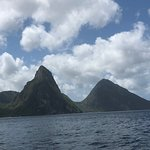 Pitons from boat